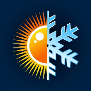 Hot and cold temperature symbol