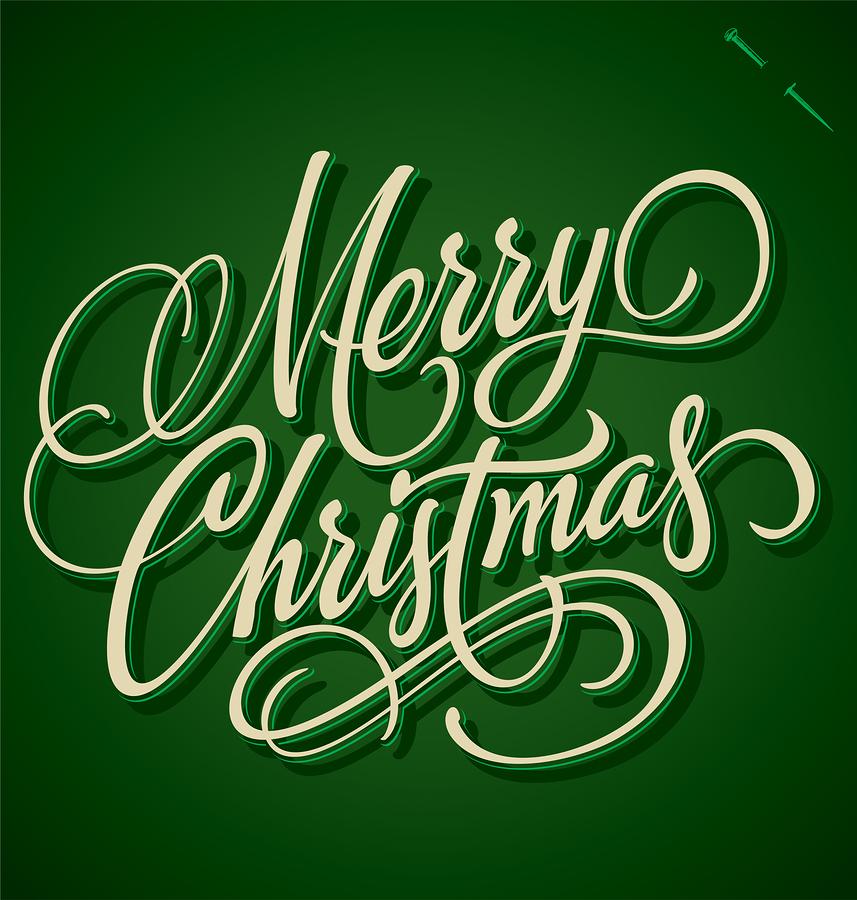 Merry Christmas Hand Lettering Vector Quot Fichier Vectoriel Libre D ...