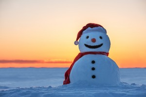 bigstock-snowman-on-orange-sunset-backg-51774376
