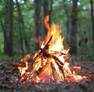 Hot campfire