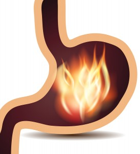 Stomach disorder concept
