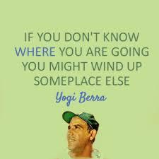 Yogi Berra On Intention