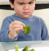 broccoli and toddler