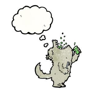 bigstock-cartoon-wolf-gargling-mouthwas-45111310